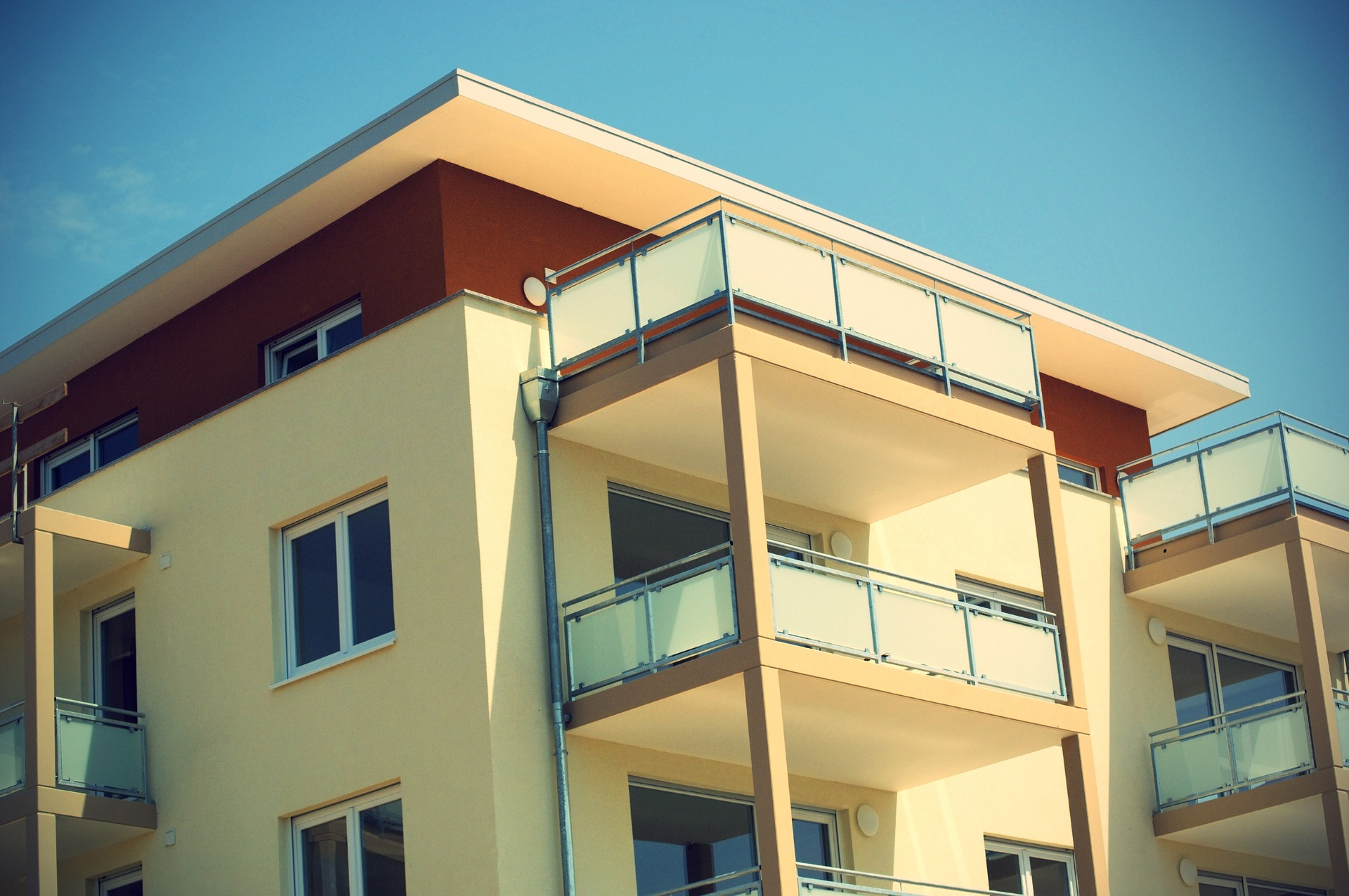 Blick aus einem Apartment
