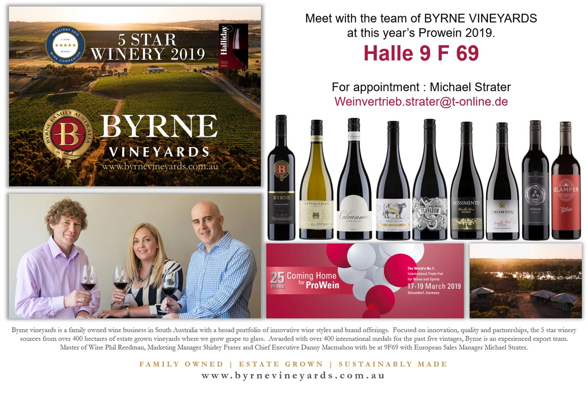 Oversea Wine Alliance Newsletter-Marketing Byrne Vineyards - Prowein 2019 www.oversea-wine-alliance.com