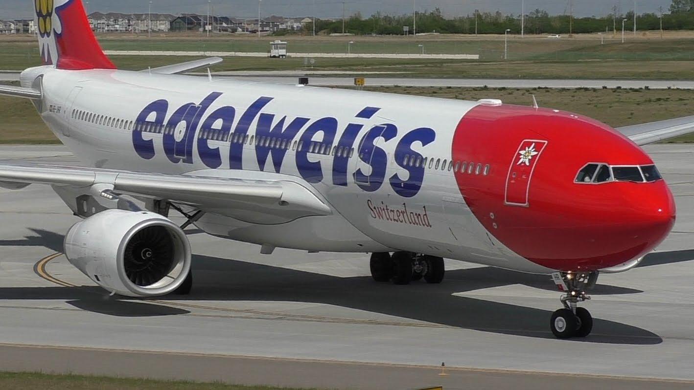 Flugzeug der Airline Edelweiss