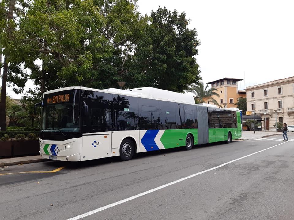 Erdgasbetriebene Busse der EMT in Palma