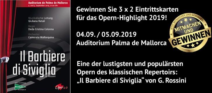 Gewinnen Sie 3 x 2 Eintrittskarten für das Opern-Highlight 2019