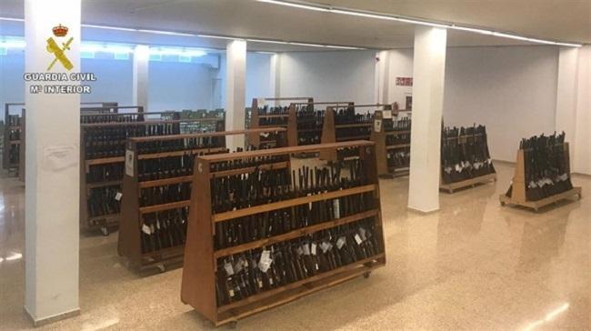 Guardia Civil hat im vergangenen Jahr mehr als 50.000 Schusswaffen vernichtet
