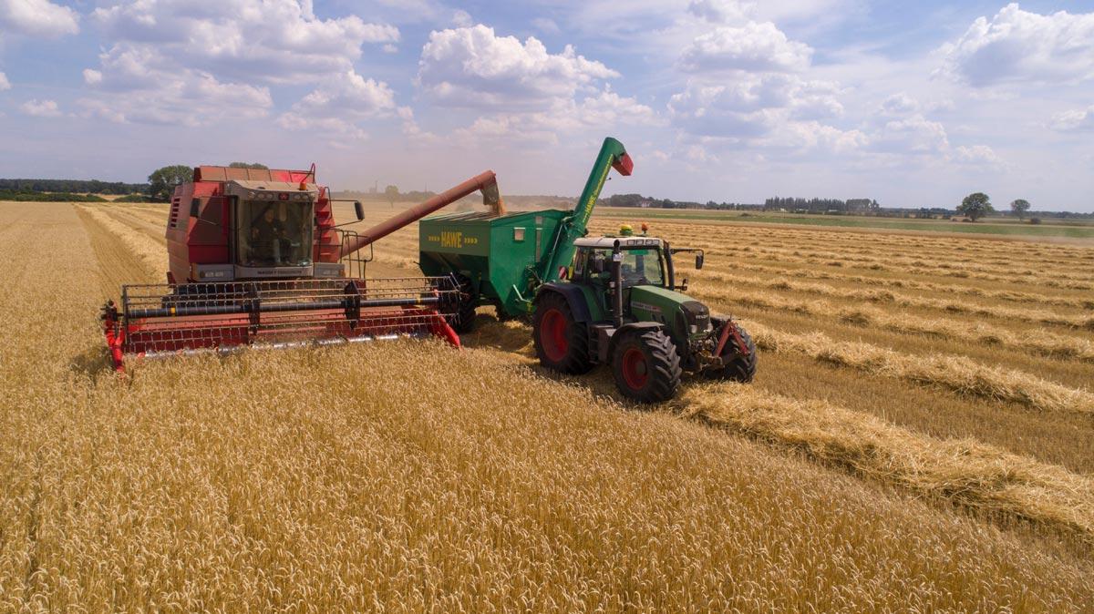 Landwirtschaftliche Maschinen im Einsatz auf Mallorca