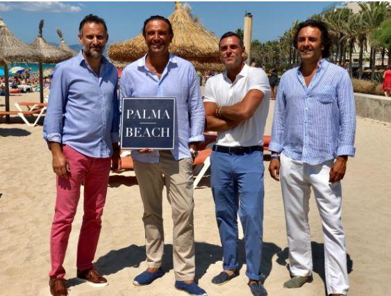 Vertreter von Palma Beach: Sprecher Antoni Martorell (li.), Chef Juan Miguel Ferrer mit Pedro Marin und Mika Ferrer.