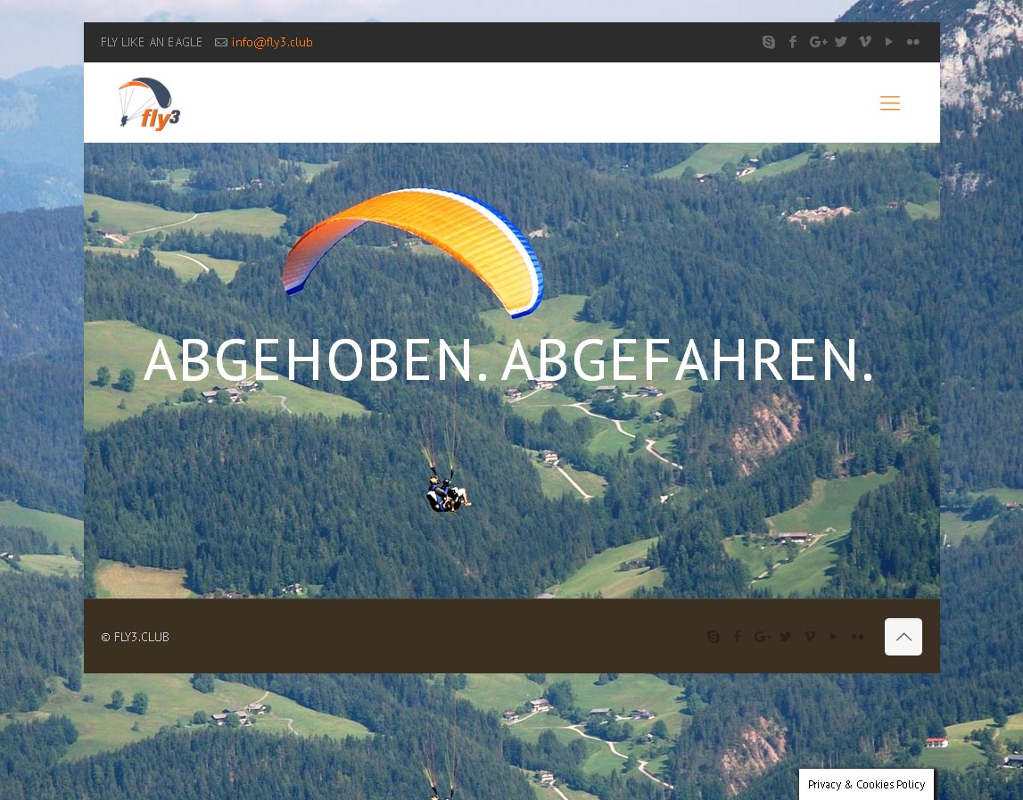 Kunde: Fly 3 Entwicklung der CI, Grafik & Layout für Online & Printwerbung www.fly3.club