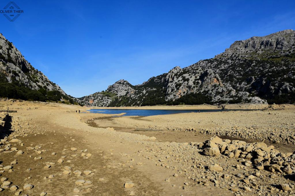 Wasserknappheit in Mallorcas Stausee Gorg Blau