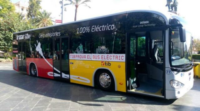 Elektrobus der TIB auf Mallorca