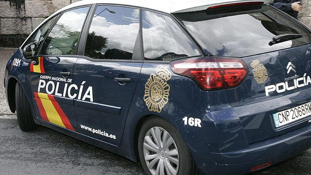 Fahrzeug der Policia Nacional auf Mallorca
